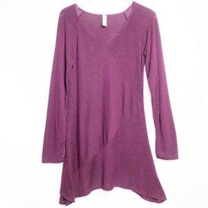 Ashley Blue | Long Sleeve Asymmetrical Tunic Top L